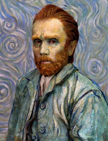 Yasumasa Morimura, Van Gogh/Blue, 2016