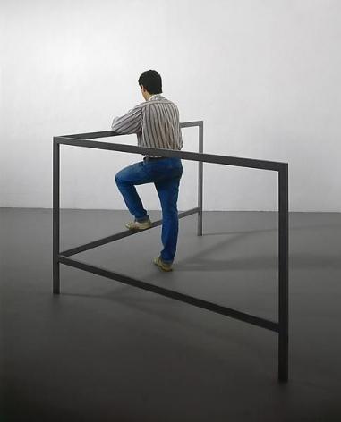 Michelangelo Pistoletto Struttura per parlare in piedi (Structure for Talking while Standing), 1965-1966