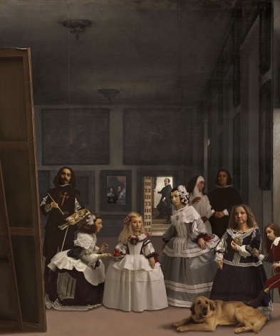 Yasumasa Morimura In praise of Velázquez: Distinguished ones in confinement, 2013