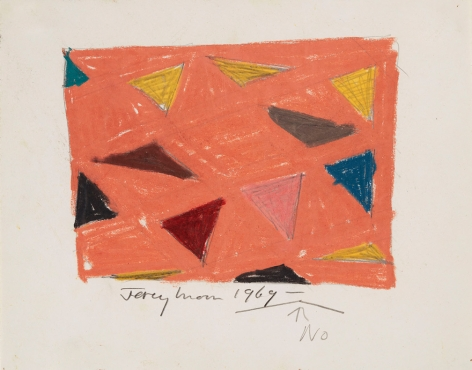 Jeremy Moon, Drawing [69], 1969