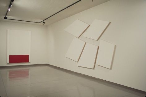 Günther Förg, Blinky Palermo, Imi Knoebel, Installation view
