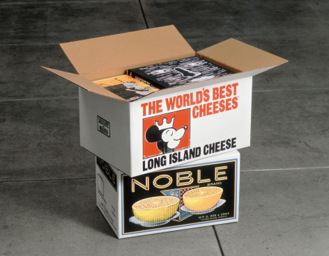 Steve Wolfe, Untitled (Long Island Cheese/Noble Cartons), 1991-1993