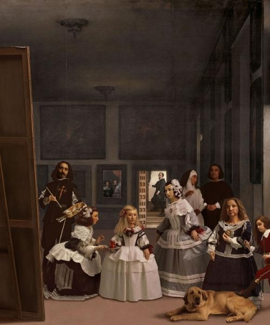 Yasumasa Morimura In praise of Velasquez: Distinguished ones in confinement, 2013