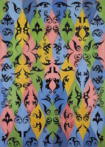 Philip Taaffe Harlequin Screen, 2012