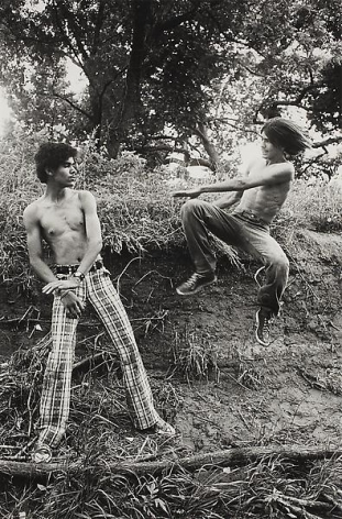 Larry Clark Playing Kung Fu in the Park, 1975