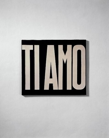 Michelangelo Pistoletto Ti amo (I Love You), 1965-1966
