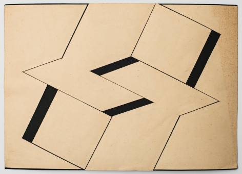 Lygia Clark Estudo para Planos em superfície modulada (Study for Planes in modulated surface), 1957