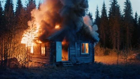 Ragnar Kjartansson Scenes from Western Culture, Burning House, 2015