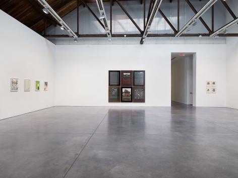 Prints and Editions  Installation view  January 25 – February 23, 2019  Luhring Augustine, New York  Pictured from left: Sanya Kantarovsky, Reinhard Mucha, Yasumasa Morimura