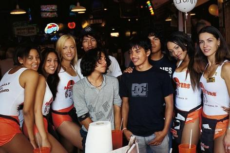 Larry Clark Jonathan Velasquez, (Eddie, Kico, Jonathan & Carlos at Hooters, Santa Monica), 2004