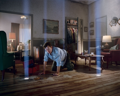 Gregory Crewdson, Untitled (Dylan on the floor), 2001