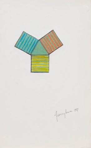 Jeremy Moon, Drawing (Study for Fountain),1967