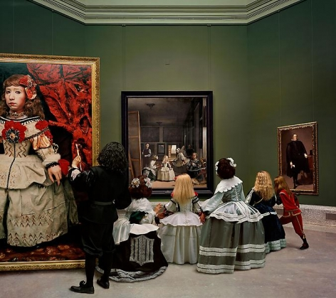 Yasumasa Morimura Las Meninas renacen de noche IV: Peering at the secret scene behind the artist, 2013