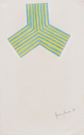 Jeremy Moon, Drawing (Study for Electric Blue), 1967