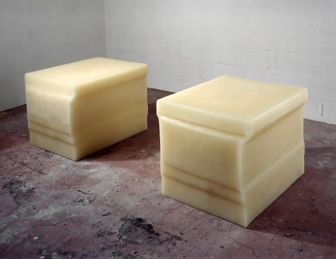 Rachel Whiteread Untitled (Double Rubber Plinth), 1996