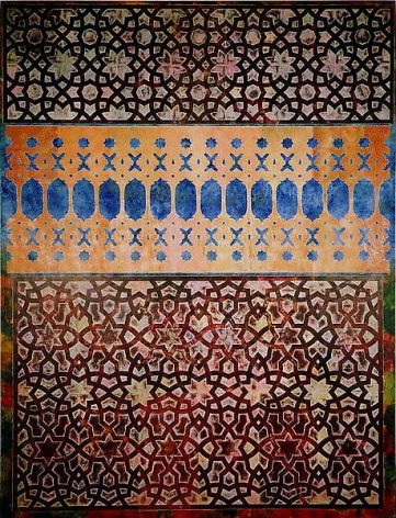Philip Taaffe Screen with Double Lambrequin, 1989