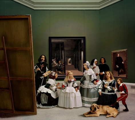 Yasumasa Morimura Las Meninas renacen de noche V: Drawn by a distant light, awaken to the darkness, 2013