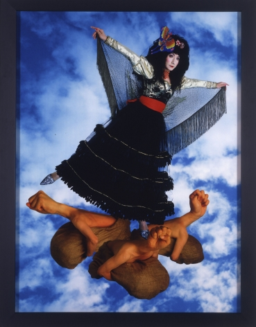 Yasumasa Morimura I am flying. It is your own fault if you are used as a stepping stone, 2004