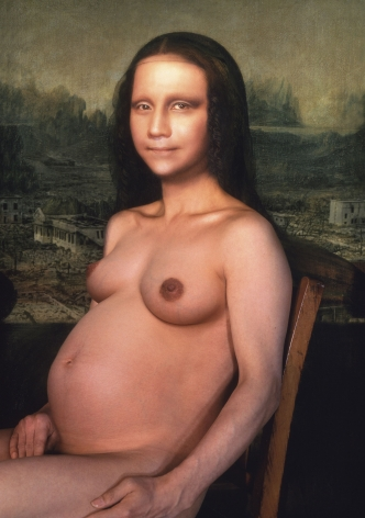 Yasumasa Morimura Mona Lisa in Its Pregnancy, 1998