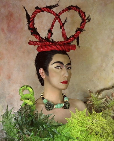 Yasumasa Morimura, An Inner Dialogue with Frida Kahlo (Red Hair Ornament), 2001