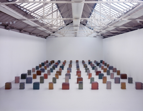 Rachel Whiteread, Untitled (One Hundred Spaces), 1995