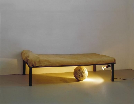 Michelangelo Pistoletto Sfera sotto il letto (Sphere Under the Bed), 1965-1966