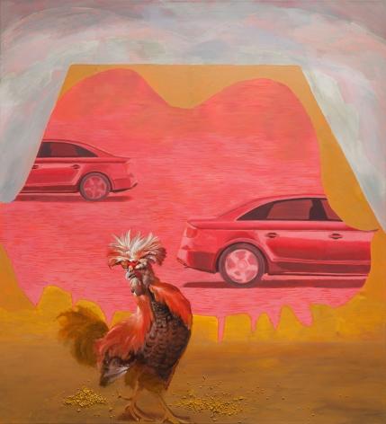 Allison Katz, Cock Wheels, 2017
