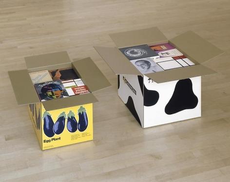 Steve Wolfe Untitled (Eggplant/Gateway 2000 Cartons), 1996-1997