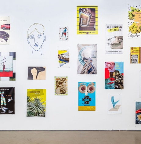 Allison Katz, Installation view of Posters, 2017