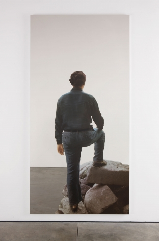 Michelangelo Pistoletto Uomo di schiena, sulla roccia (Man from the back, on rocks), 2008