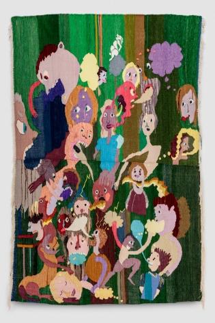 Christina Forrer, Untitled (green background), 2018