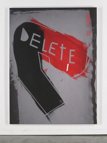 Jeff Elrod Day-Glo Delete, 2015