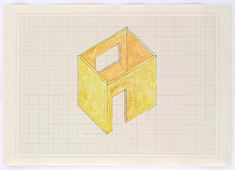 Rachel Whiteread Study for Room, 1993