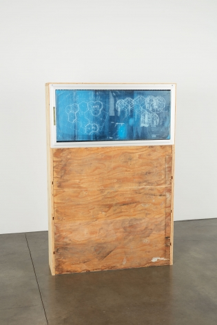 Oscar Tuazon, Blueprint Window (LAWS), 2018