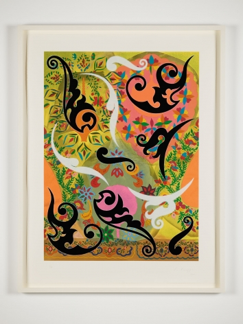 Philip Taaffe, Ornamental Panel III, 2011,  Screenprint,  Edition of 45