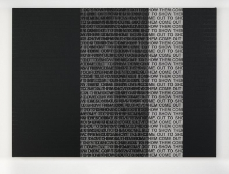 Glenn Ligon Come Out Study #2, 2014