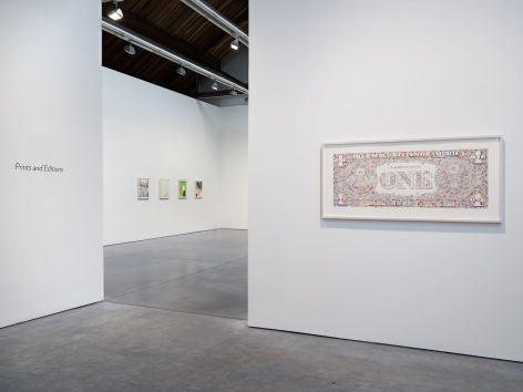 Prints and Editions, Installation view, January 25 – February 23, Luhring Augustine, Pictured: Sanya Kantarovsky, Tom Friedman