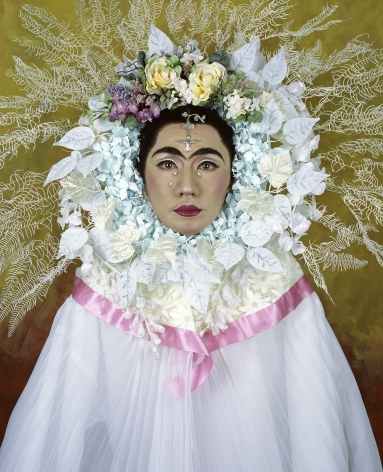 Yasumasa Morimura, An Inner Dialogue with Frida Kahlo (Flower Wreath and Tears), 2001