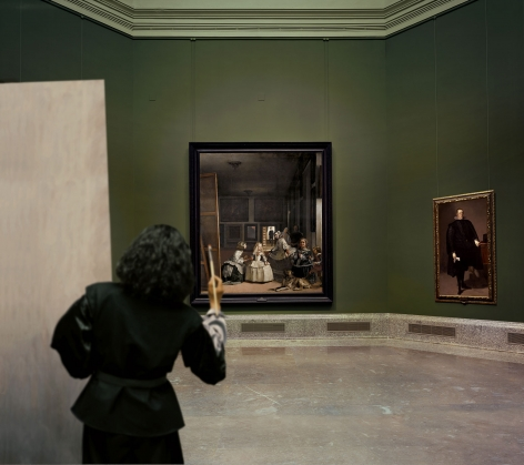 Yasumasa Morimura Las Meninas renacen de noche III: Opening the door in the depth of the painting, 2013