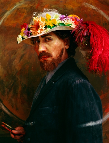 Yasumasa Morimura, Ensor with Feathered Hat, 2016