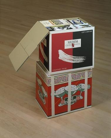 Steve Wolfe Untitled (Mumm/Jose Cuervo Cartons), 1994