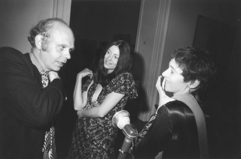 Garry Winogrand NY Society at MET opening (left to right Claes Oldenburg, Hannah Wilke, Diane Arbus), 1928