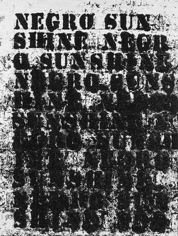 Glenn Ligon Study for Negro Sunshine #1, 2004