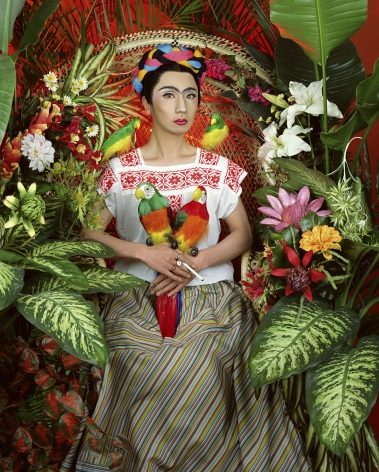 Yasumasa Morimura An Inner Dialogue with Frida Kahlo (Four Parrots), 2001