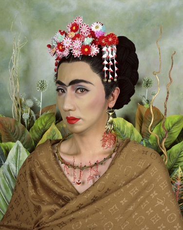 Yasumasa Morimura An Inner Dialogue with Frida Kahlo (Hand Shaped Earring), 2001
