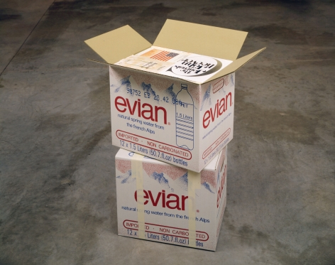 Steve Wolfe Untitled (Evian Cartons), 1993