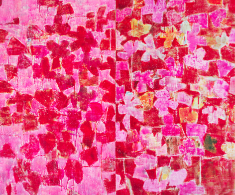 PinkDaysandNights,2016, Oil on canvas. 153 X183 cm.