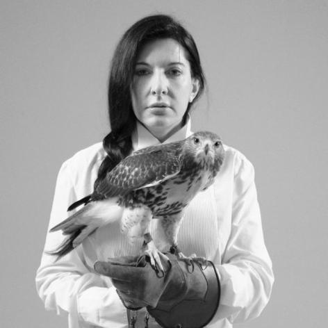 MARINA ABRAMOVIC, Portrait with Falcon, 2010