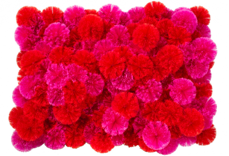 Pink Red Spiderballs, 2014, Mixed Media