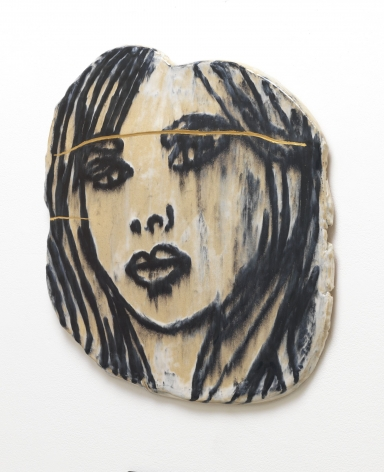 Portrait with Wounds, 2015, Ceramic